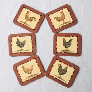 Other - 6pc Rooster Coasters